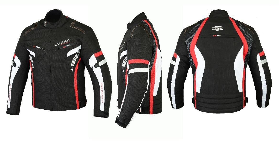 MBSmoto MJ22 Max Motocicleta Motocicleta Corta Textile Touring Jacket Azul, M