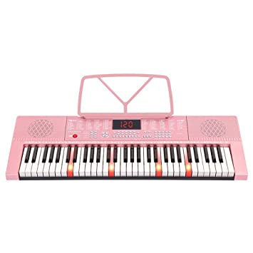 Amazon.es: DUWEN Luces de Teclado para Niños con Balas Teclas de Piano DE 61 Teclas Multifunción Instrucción Inteligente para Principiantes Instrumento ...