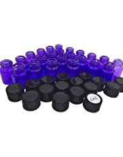 Elufly 1/4 5/8 Dram Purple Glass Vials 1ML/2ML Essential Oil Perfume Bottles 60-150 Units (150, 2ML)