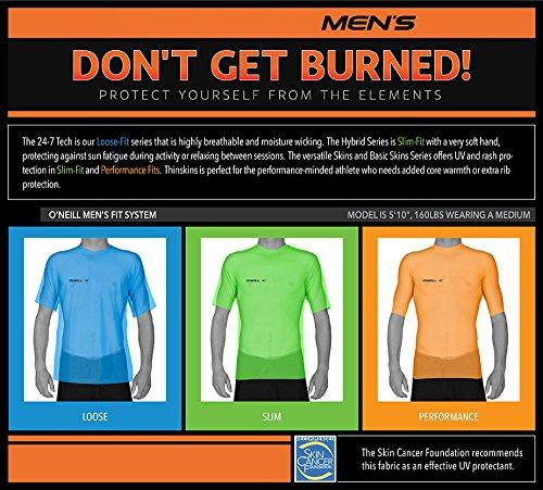 O'Neill Wetsuits Men's Basic Skins UPF 50+ Long Sleeve Sun Shirt, Dusty Blue, Medium by O'Neill Wetsuits (Image #4)