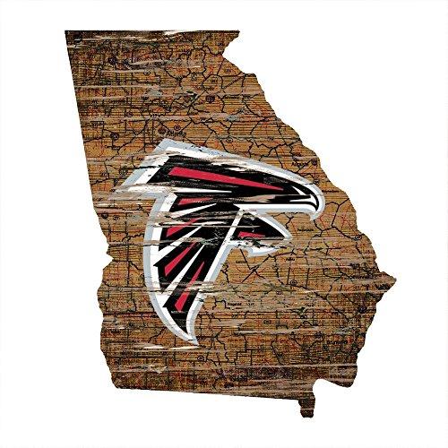 Fan Creations Atlanta Falcons State Shape Sign, Multi