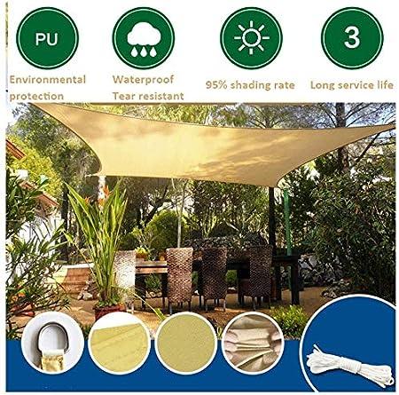 Hammer Amarillento del rectángulo Parasol Toldo de Vela Toldo, 95% UV Bloqueo, Agua y Permeable al Aire, Comercial y residencial, for Patio Patio Pergola, (Disponible for los tamaños de Encargo): Amazon.es: Hogar