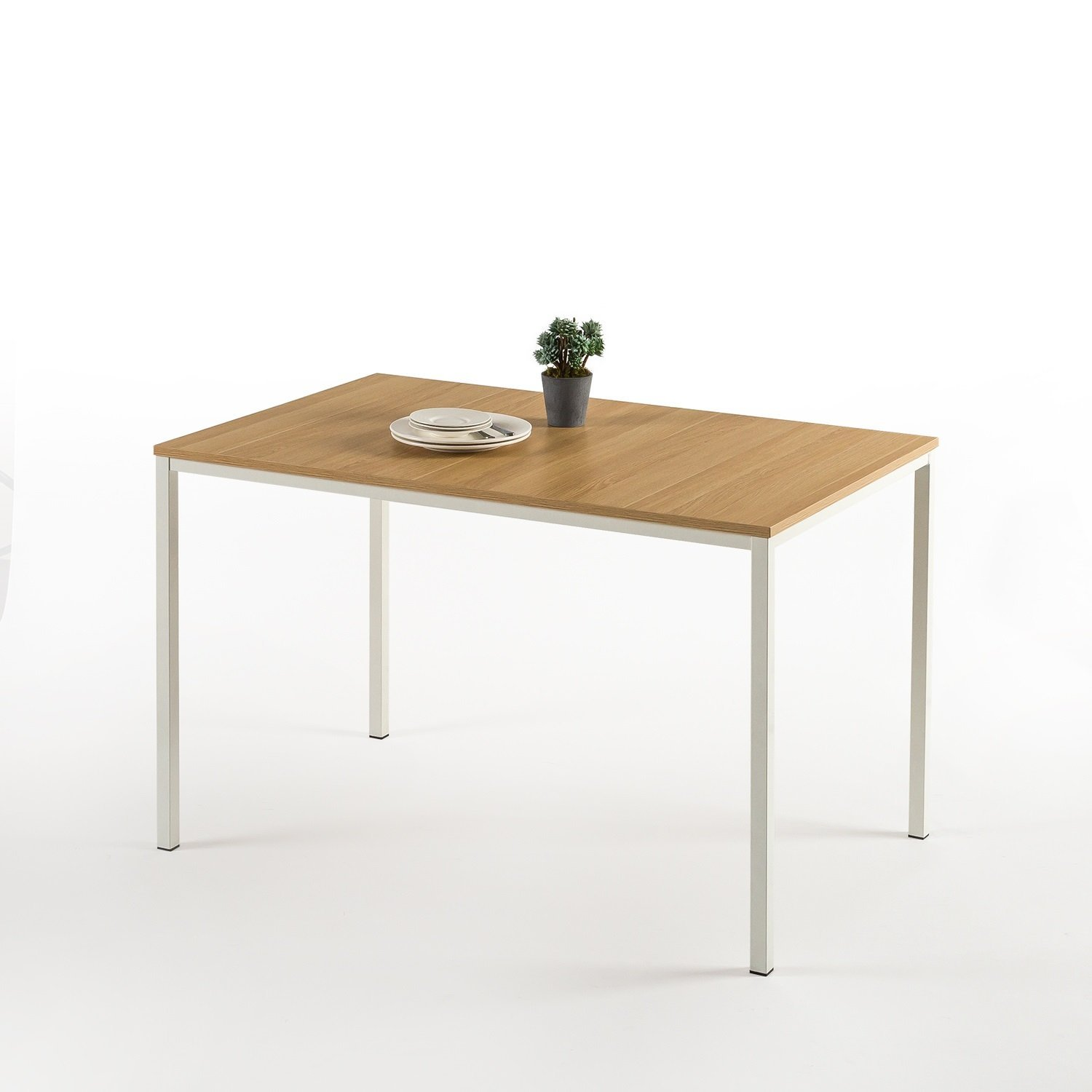 Zinus Dessa Modern Studio Collection Soho Dining Table / Office Desk / Computer Desk / Table Only, White