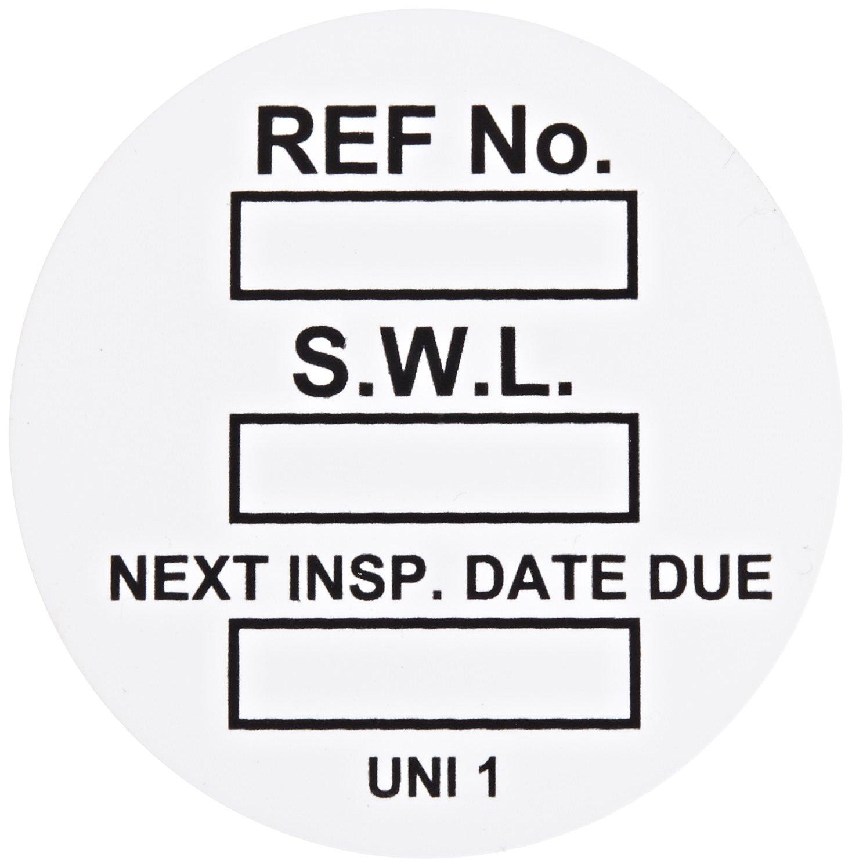 Brady  UNI-UNI WHITE, White Universal Tag INSERT SAFE WORK LOAD 100/PackageG WHT (100 Tags)