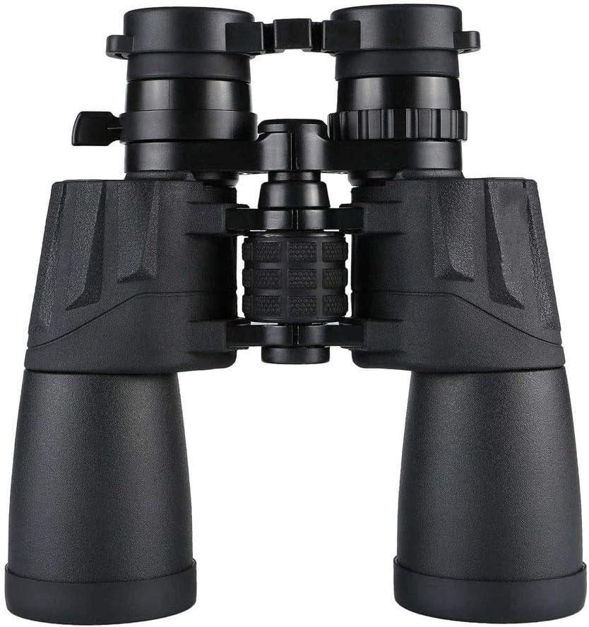 JIAGU Binoculares para Adultos Observación de Aves Telescopio al Aire Libre for Adultos 10-30x50 Prismáticos Zoom de Alta definición de Alta Potencia (Color : Black, Size : 19X20X6CM)