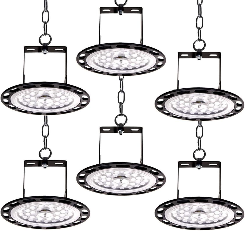 Werkstatt LED Hallenstrahler Hallenbeleuchtung kaltwei/ß 6000K,Industrie LED Strahler Industrieleuchte LED High Bay Licht f/ür Werkst/ätten und Fabrikhallen 4er 300W Led UFO Industrielampe