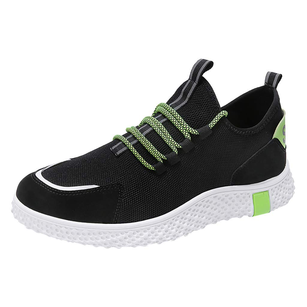 Sneakers for Men, Caopixx Men's Lightweight Athletic Walking Shoes Casual Sneakers Lace-up Running Sports Shoes Black