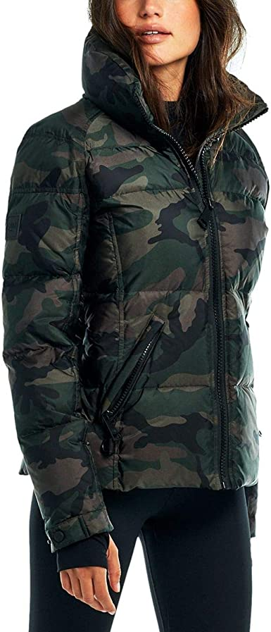 Womens Camo Freestyle Shaped Down Puffer Jacket SAM