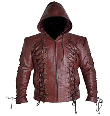 Red Wolf Stephen Amell Arrow Super Hero - Chaqueta de Piel ...