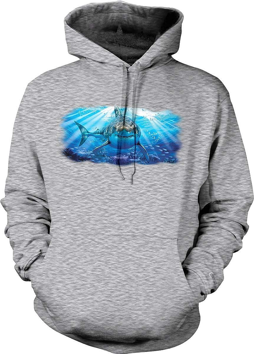 Hoodteez Great White Shark Hooded Sweatshirt