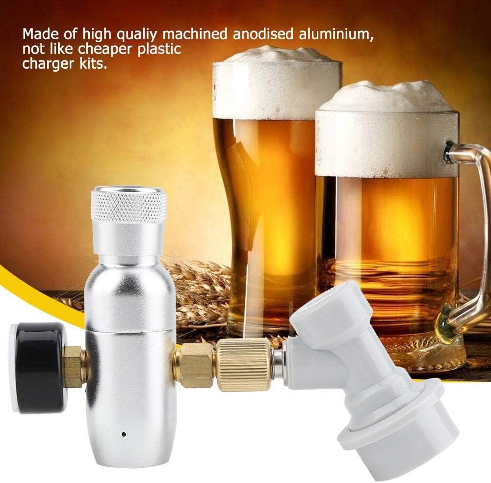 Cargador de CO2 Homebrew CO2 16g Regulador Cargador Kit Desconexi/ón de gas Home Draft Beer Kegerator 0-60 PSI