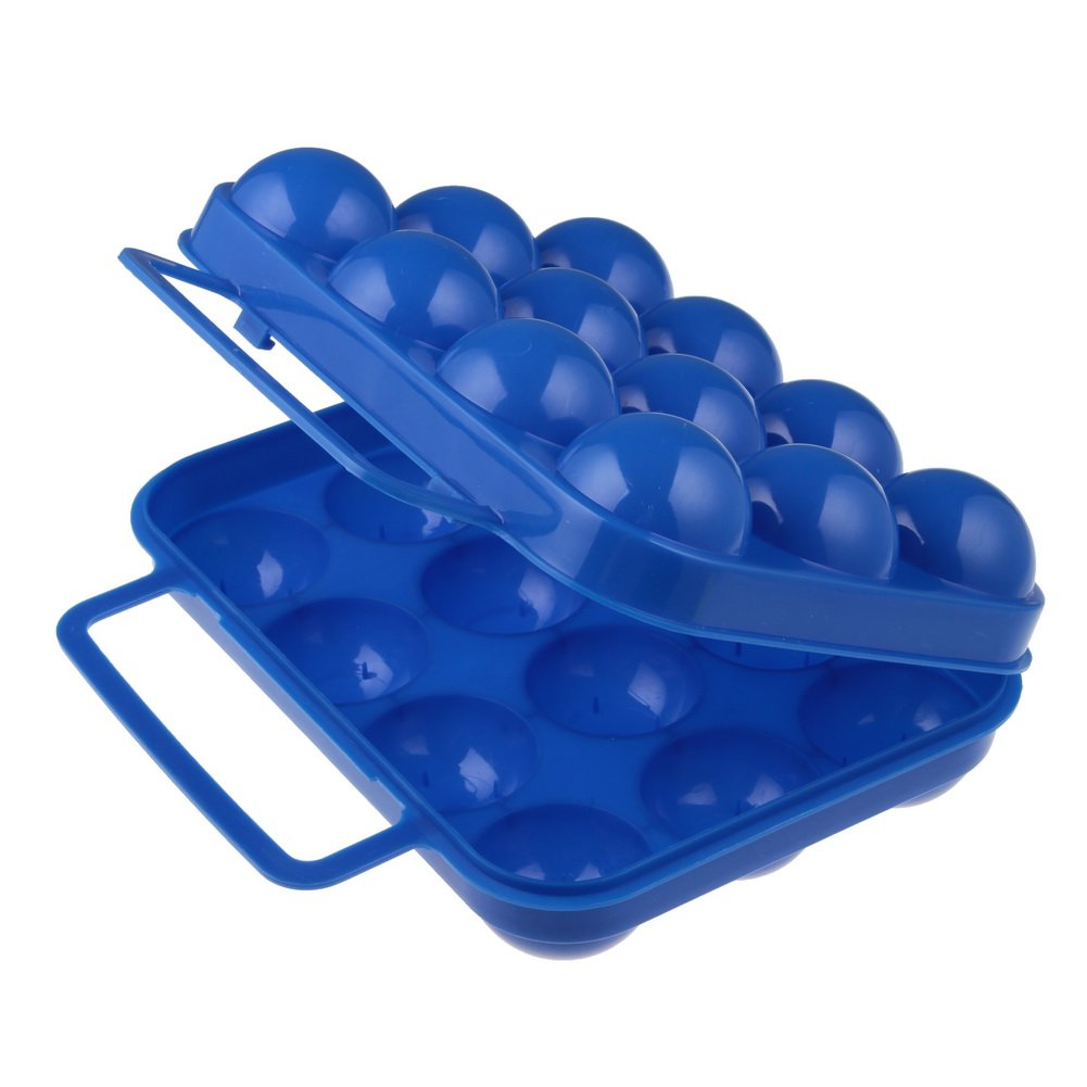 Well-Goal Portable Plastic Egg Storage Box Egg Carrier Container by Well-Goal