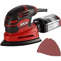 SKIL Corded Detail Sander, Includes 3pcs Sanding Paper and Dust Box - SR250801