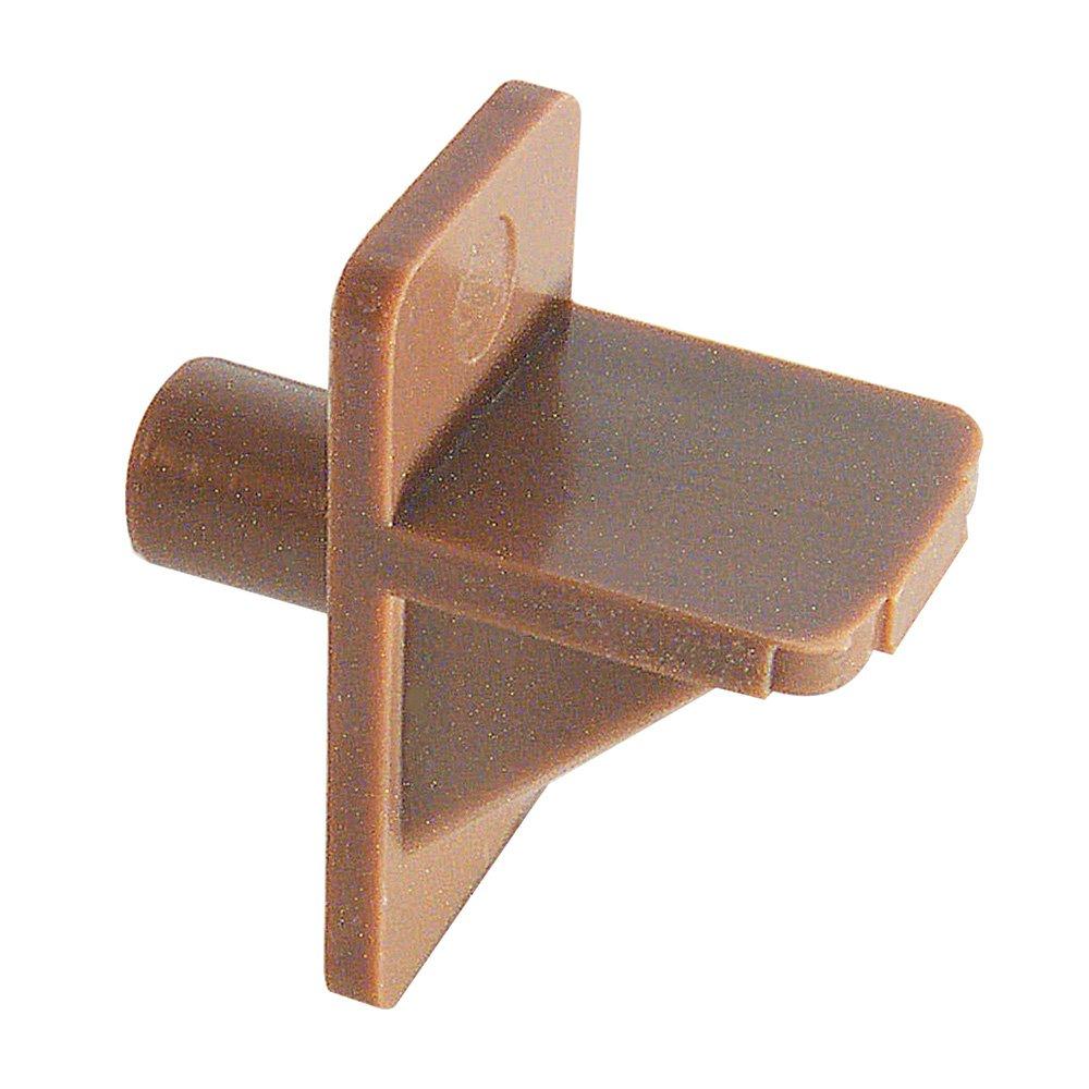 Slide-Co 243406 Shelf Support Peg, 5mm, Brown Plastic,(Pack of 12)
