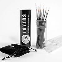 TOYZOS 12 Pcs of Fine Detail Brush Set Professional Acrylic Oil Watercolor Painting Miniature Paint Art Brush Set