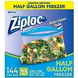 ziploc freezer pint - Ziploc Half Gallon Freezer Bags (4 boxes of 36 bags - Total of 144 bags)