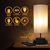Aultra LED Touch Table LAMP - Table Lamp Shade with Dimmable Touch Control Features & Phone Charging Port Used for Nightstand