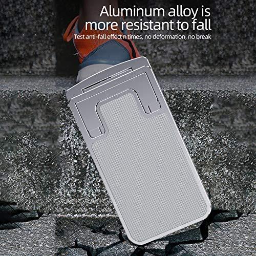 Soporte Plegable Portátil Para Teléfono Móvil Con Base De Tableta, Soporte De Aluminio Para Escritorios, Soporte Móvil, Multiángulo Soporte Tablet Mesa (Gris)