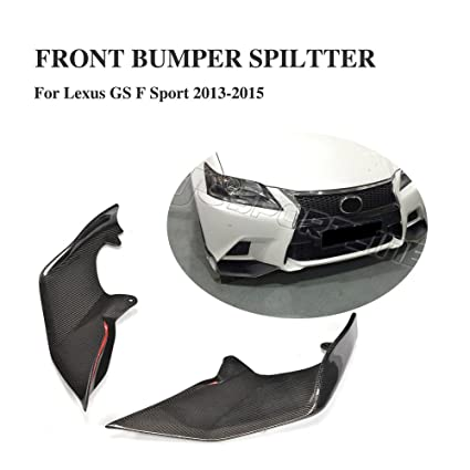 JCSPORTLINE Carbon Fiber Front Splitters For Lexus GS350 2013 2014 2015  4 Door (F