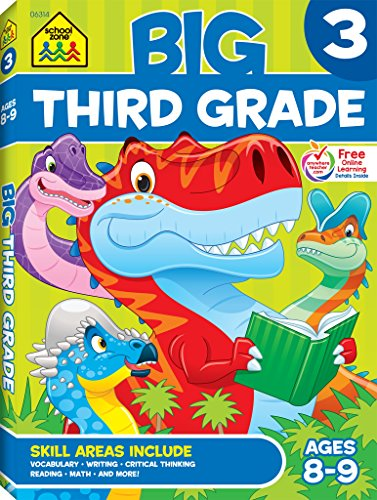 School Zone - Big Third Grade Workbook - Ages 8 to 9, Reading, Writing, Math, Science, History, Social Science, Reading Comprehension, and More (School Zone Big Workbook Series)