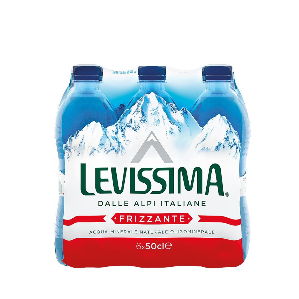 Amazon.com : Levissima: Sparkling Water 16.9 Fluid Ounce (500ml) Bottles (Pack of 6) [ Italian Import ] : Grocery & Gourmet Food