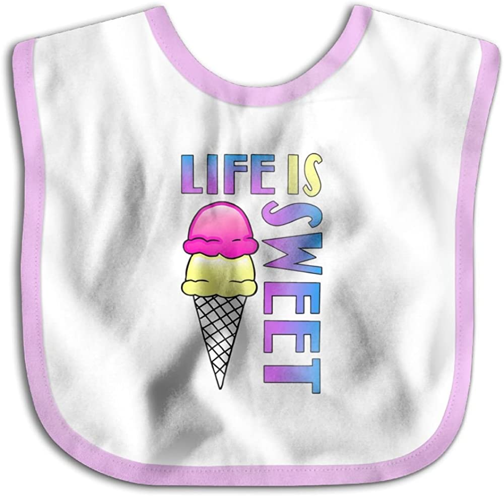 Marima Life is Sweet Personalized Scarf Bib Feeding /& Teething Fancy Baby Bibs and Burp Cloth Polyester Cotton