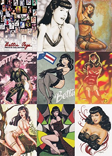(THE BETTIE PAGE PRIVATE COLLECTION 1 2011 VERSICOLOR COMPLETE BASE CARD SET OF 50 AD)