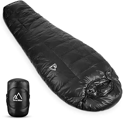 Amazon.com: Terra Hiker - Saco de dormir de plumón, saco de ...