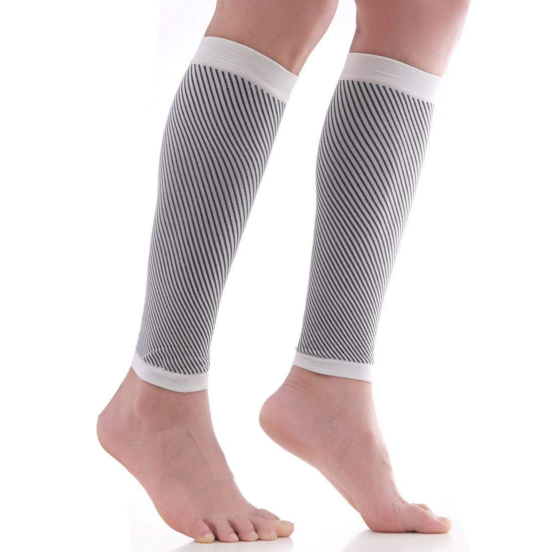 COALZS Calf Compression Sleeve Socks (20-30mmhg) Performance Support for Shin Splint, Running, Calf Pain Relief, Leg Support for Men Women Improves Circulation and Recovery
