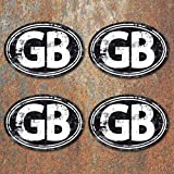 GB Laminated Vintage Aged Look Stickers