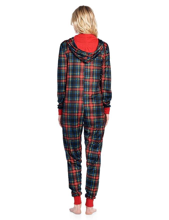 Amazon.com  Ashford   Brooks Women s Fleece Hooded One Piece Pajama Union  Jumpsuit  Clothing b9853c262