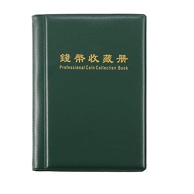 Heaviesk Libro de la colección de Monedas Portátil 120 Portamonedas Álbum Scrapbooking Dinero Penique Almacenamiento BolsillosColores aleatorios (Rojo o Verde): Hogar