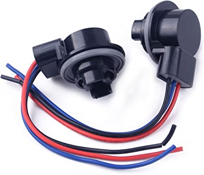 2pcs 3157 Type Wiring Harness Automobile Car Lamp Light Socket Replacement