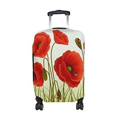 DEYYA Cute Ladybug And Leaves Spandex Travel Luggage Cover Baggage Suitcase Protector Fits 18-32 Inch