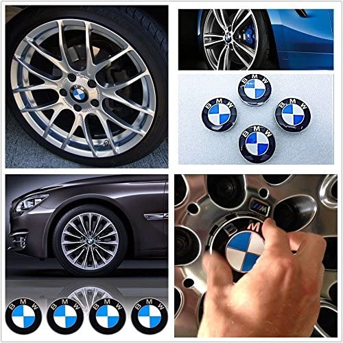 Applicable to BMW all models Searlleng 4 pieces 68mm Center Wheel Hub Caps For BMW
