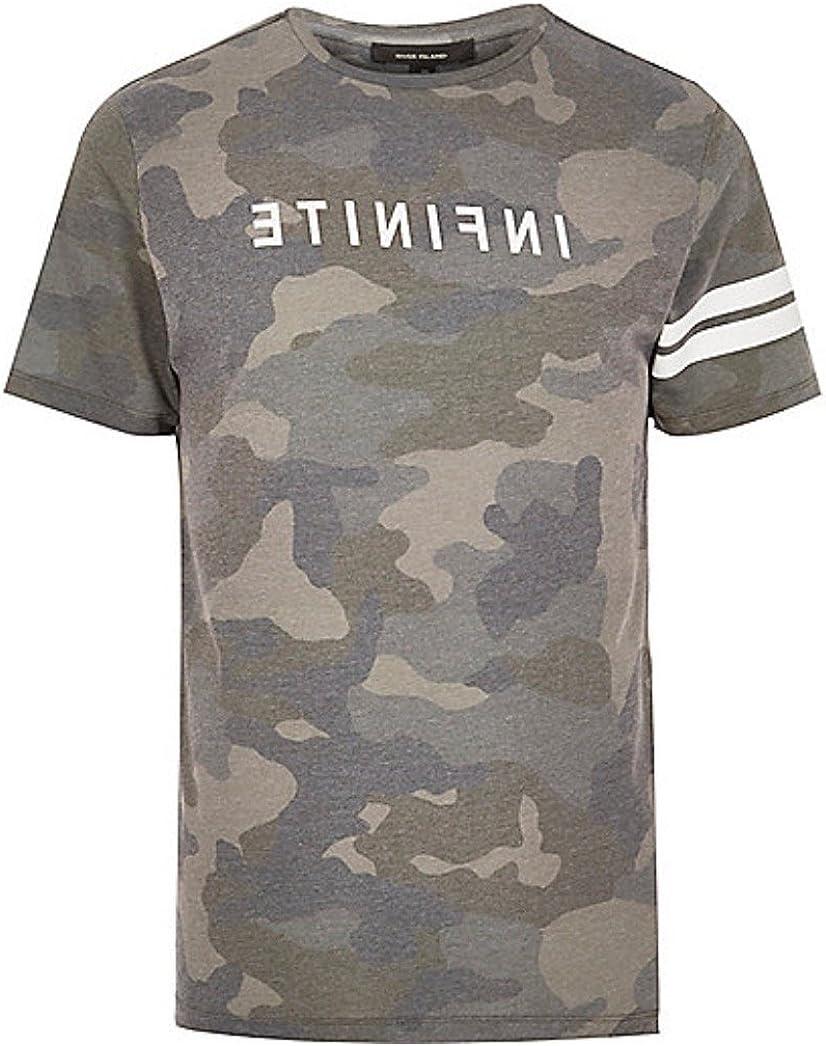 HarrowandSmith - Camiseta de Manga Corta de algodón para Hombre, diseño de Camuflaje, Color Caqui Verde Caqui XX-Large: Amazon.es: Ropa y accesorios