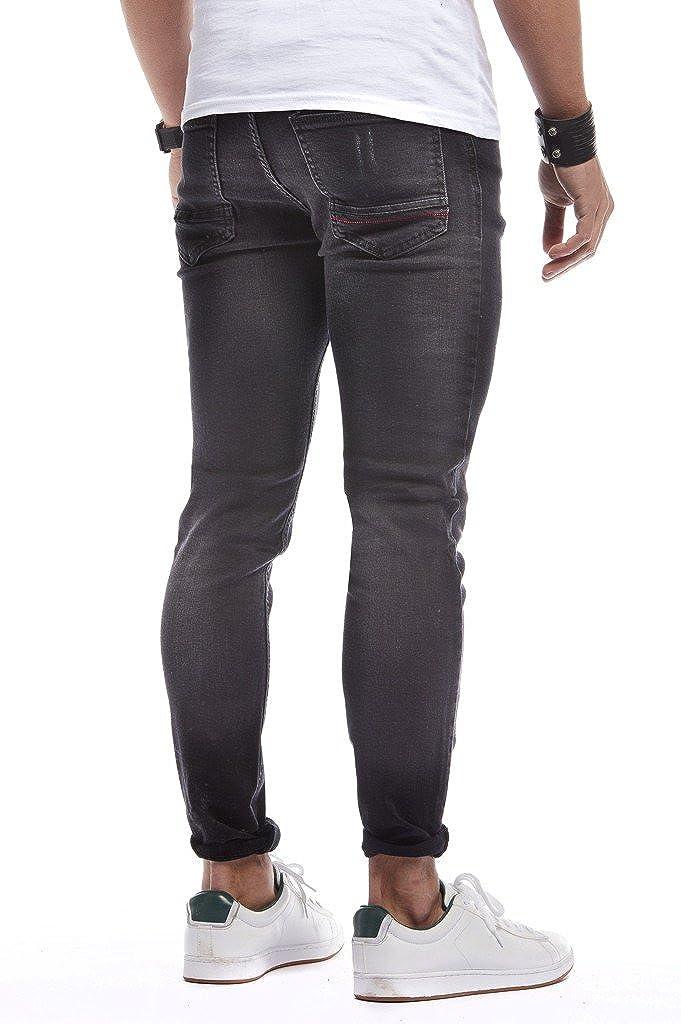 LEIF NELSON Herren Hose Jeans Jeanshosen Basic Stretch Freizeithose Denim LN271N-SC