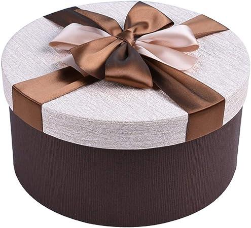 Caja de Regalo romántica Redonda con decoración de Lazo para el día de San Valentín Fiesta de cumpleaños de Navidad: Amazon.es: Hogar
