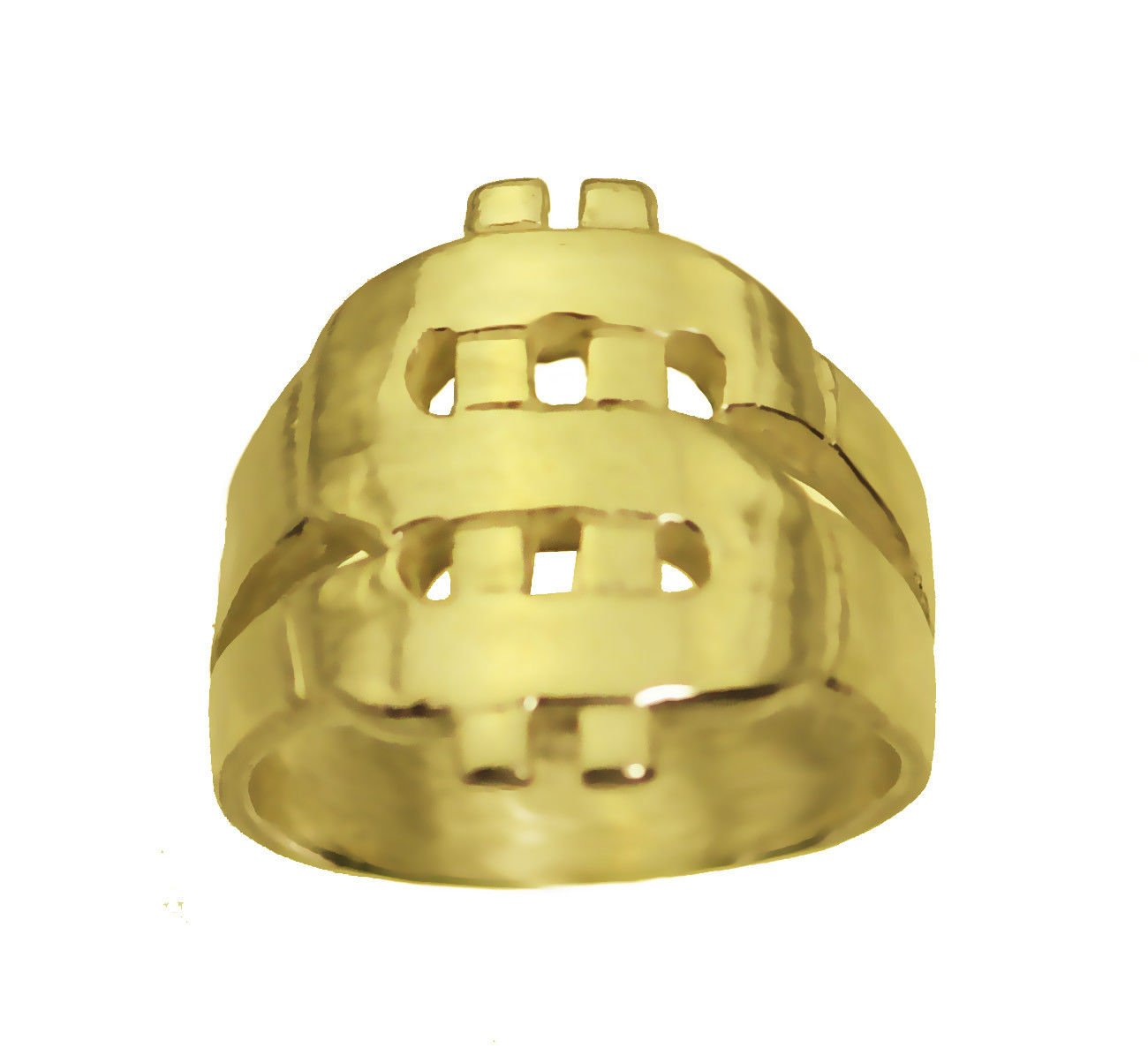 prince of diamonds DOLLAR 24K Gold Plated New Money Sign Ring good Luck Rich Wealth New Jewelry