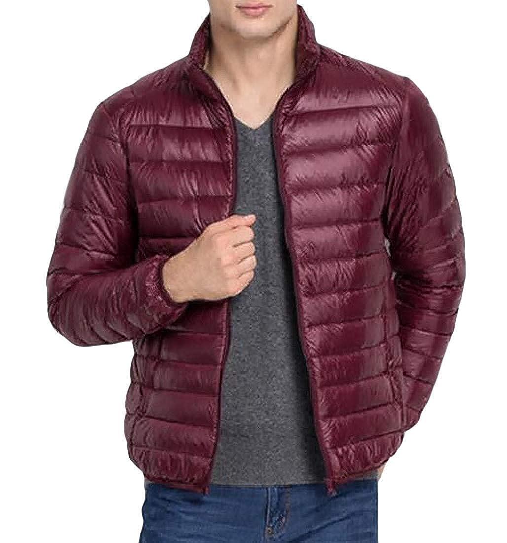 Joe Wenko Mens Down Coat Puffer Stand Collar Lightweigth Down Jackets