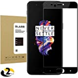 OnePlus 5 Tempered Glass Screen Protector , Thierfy [2Pack] Screen Protector [9H Hardness] [HD Anti-Fingerprint] [ Bubble Free] [Scratch Proof] Screen Protector for OnePlus 5 Black