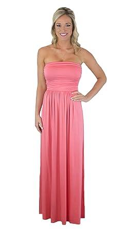 40e99191c708 Charm Your Prince Women s Sleeveless Summer Chevron Empire Zigzag Floral  Maxi Dress - Pink -