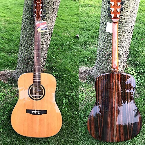 HVTKL AA Grado de Grado 41 Pulgadas Superficie Guitarra balada de Chapa de Madera por un bajo Abeto ébano Distancia acorde de la Guitarra (Color : Fillet, Size : 41 Inch): Amazon.es: Hogar