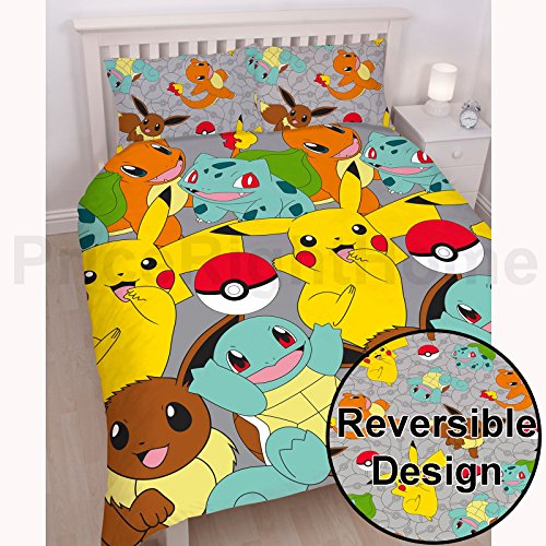 Pokemon Catch UK Double/US Full Duvet Cover Set + Matching 66