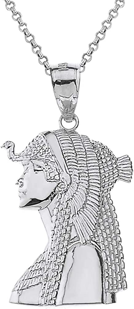 Textured 925 Sterling NEW Silver Ancient Egyptian Cleopatra Queen NEW before selling Pe