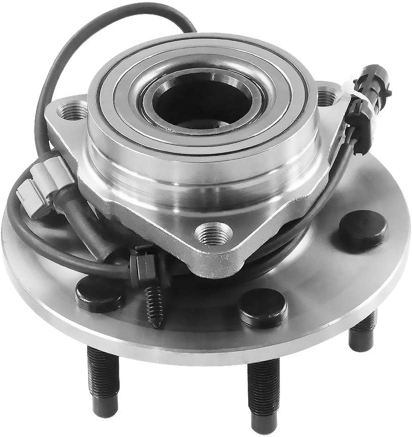 IRONTEK 4WD Only 515036 Wheel Bearing Front Wheel Hubs and Bearings Assembly for Cadillac Escalade, Chevy Avalanche, Express 1500, Silverado, Suburban, Tahoe, GMC Sierra, Yukon, Savana W/ABS
