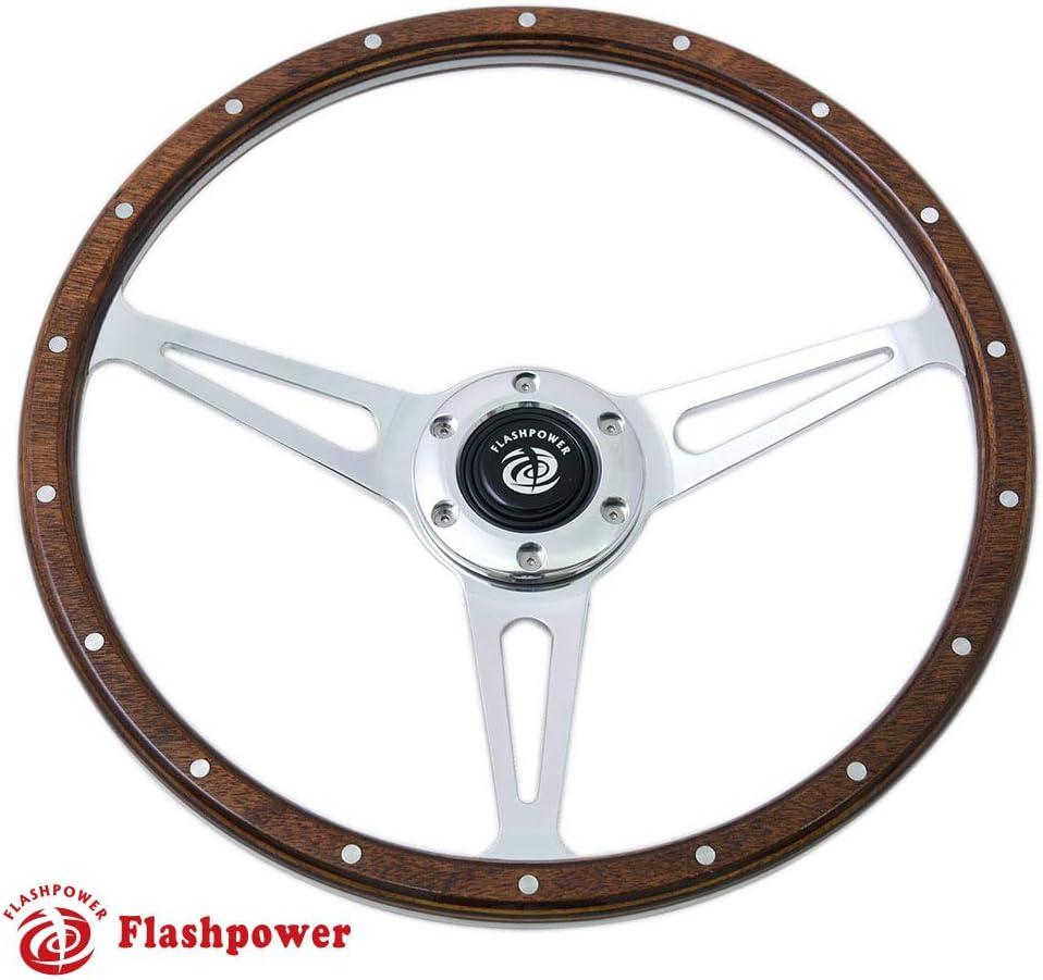 Flashpower Classic Wood Steering Wheel