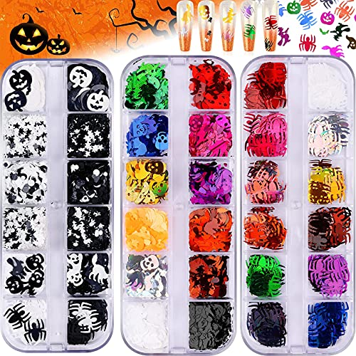 Lentejuelas halloween 3 cajas (mod.C) nail art y artesanias