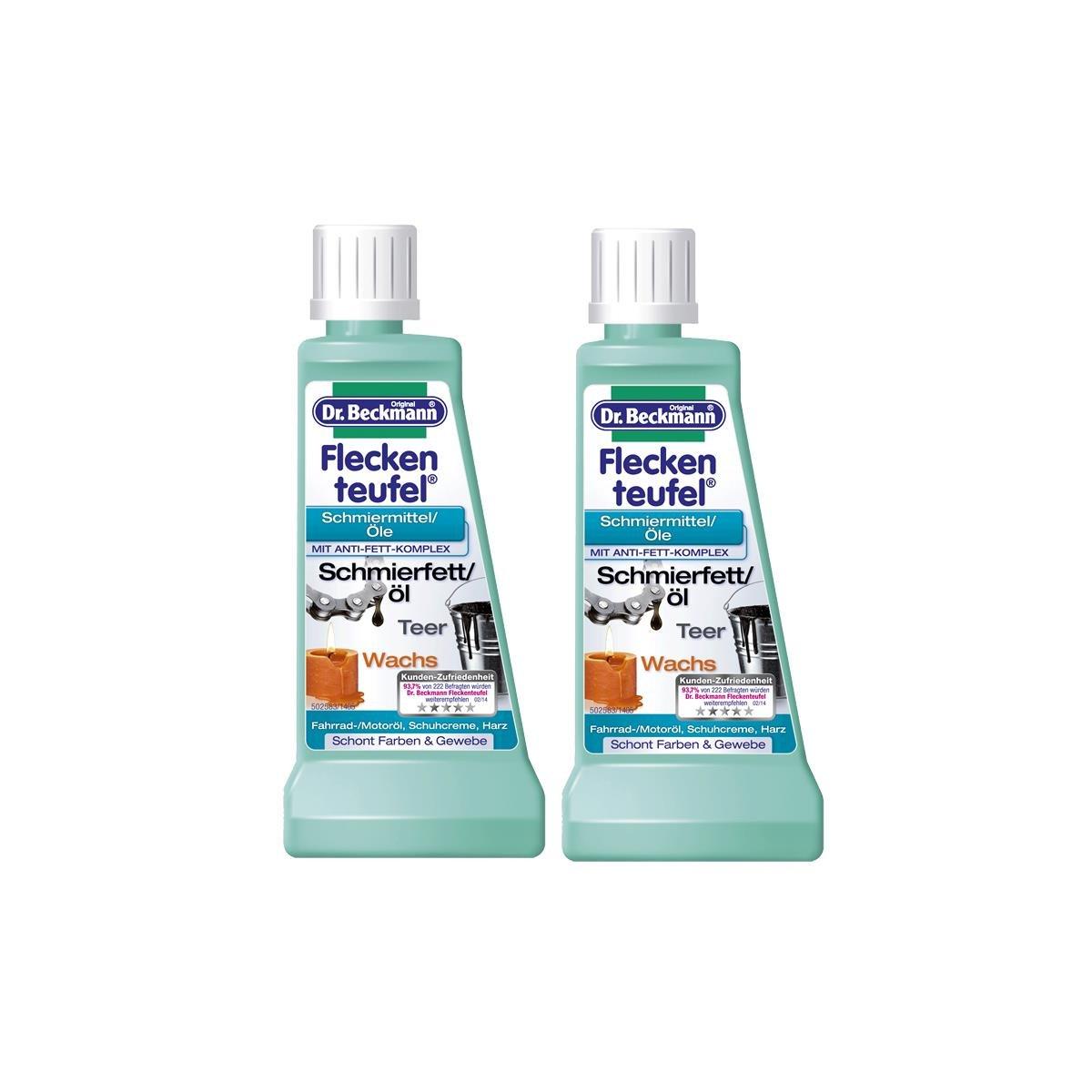 2 x Dr. Beckmann mancha lubricantes diablo aceites 50 ml - con anti-grasa complejo: Amazon.es: Hogar