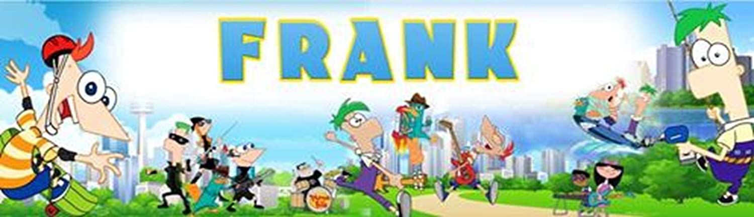 Phineas and Ferb Border Mat and Frame Options Personalized Birthday Name Poster with Custom Name On it
